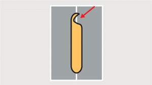 溶け落ち(上板ビードあり)_検査項目_溶接検査システム
