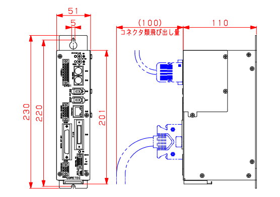 ACサーボプレスコントローラ_ BS-M3A_寸法図
