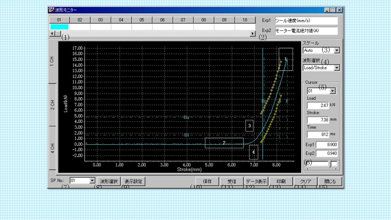 波形モニタ画面