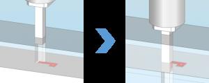 ACサーボプレス_端子曲げ成形のイメージ