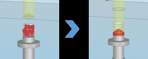 ACサーボプレス_粉体成形のイメージ