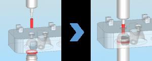 ACサーボプレス_シリンダーヘッド圧入のイメージ