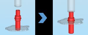 ACサーボプレス_シャフト圧入のイメージ