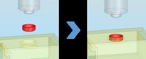 ACサーボプレス_プラグ圧入のイメージ