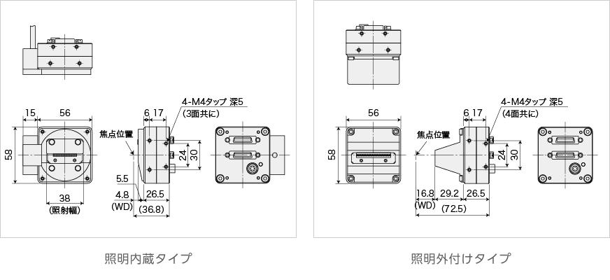 寸法図_接写型ラインカメラmini
